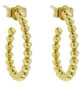 Jennifer Meyer Small Bead Hoops - Designer Yellow Gold Earrings