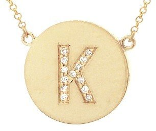 Jennifer Meyer Diamond Letter Necklace - K - Rose Gold