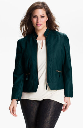 Mynt 1792 'Noho' Quilted Moto Jacket (Plus)