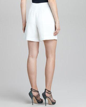 Giorgio Armani Pleated Snap-Closure Shorts