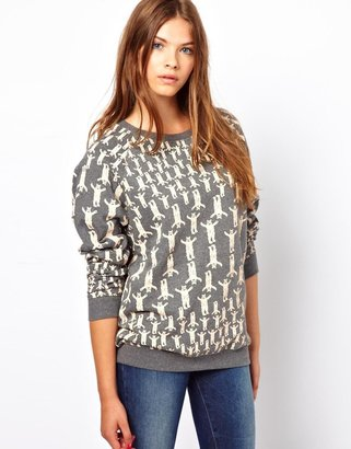 People Tree by Peter Jensen Organic Cotton Sweater in Bear Print