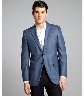 Joseph Abboud cadet blue herringbone wool two-button jacket
