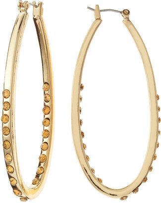 Fragments for Neiman Marcus Elongated Hoop Earrings, Gold Smoky