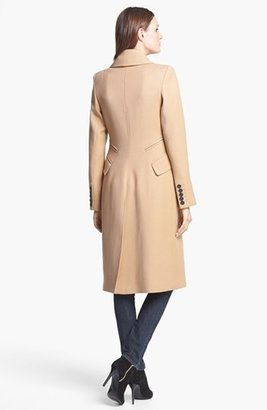Smythe Long Double Breasted Wool Coat