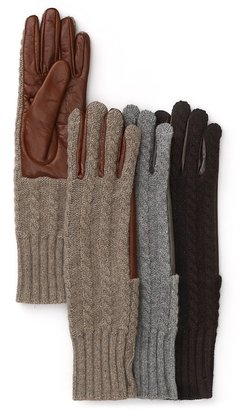 Bloomingdale's Knit Front Gloves