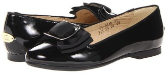 Venettini 55-Dian (Little Kid/Big Kid) (Black Patent) - Footwear
