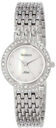 Armitron Women's 75/5190MPSV Swarovski Crystal Accented Silver-Tone Bracelet Watch $43.35 thestylecure.com