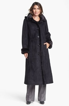 Gallery Long Faux Shearling Coat (Online Only)