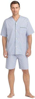 Brooks Brothers Deco Gingham Pajama Set with Shorts