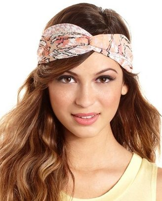 Charlotte Russe Abstract Print Twisted Headwrap
