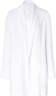 Faith Connexion White Crepe Long Jacket