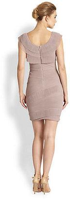 BCBGMAXAZRIA Briana Mushroom-Pleat Dress