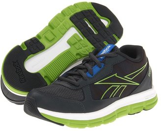 Reebok Kids Dual Turbo (Little Kid) (Gravel/Gusto Green/Blue Sport/White) - Footwear