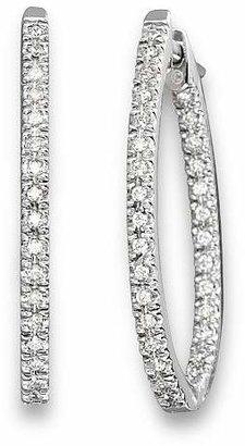 Bloomingdale's Inside Out Diamond Hoop Earrings in 14 Kt. White Gold, 0.50 ct. t.w. - 100% Exclusive