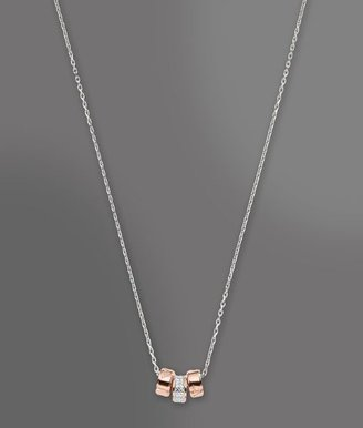 Emporio Armani Necklace In Silver And Cz Stones