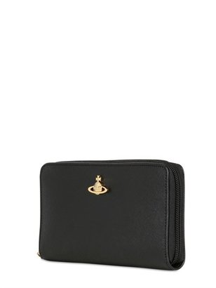 Vivienne Westwood Saffiano Leather Zip Around Wallet