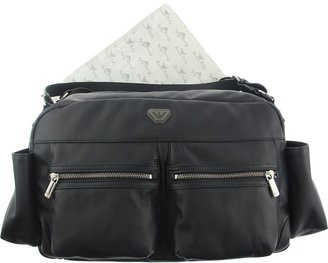 Armani Baby Navy Changing Bag & Mat