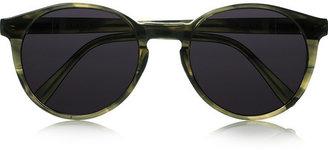 Illesteva Lily round-frame acetate sunglasses