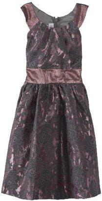 Bonnie Jean Big Girls' Allover Sparkle Dress with Circle Collar