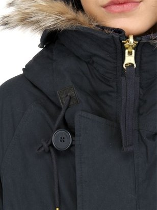 Kai-aakmann Fur & Cotton Nylon Reversible Parka Coat