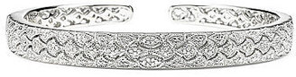 JCPenney FINE JEWELRY Vintage Inspirations 1/5 CT. T.W. Diamond Sterling Silver Cuff