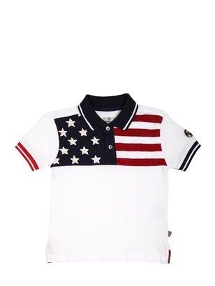 North Sails Us Flag Cotton Piquet Polo Shirt