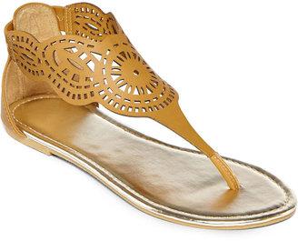 JCPenney Asstd Private Brand Cutout Shield Sandals