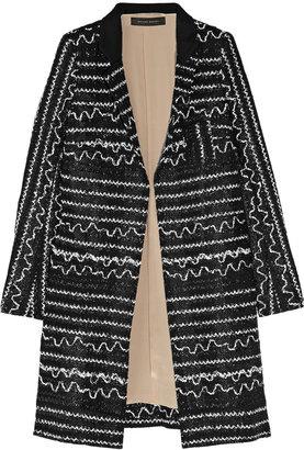 Roland Mouret Quilip patterned bouclé coat