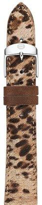 Michele Brown Cheetah-Print Calf Hair Watch Strap, 16mm