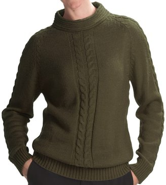 San York Alpaca Cable Sweater (For Women)