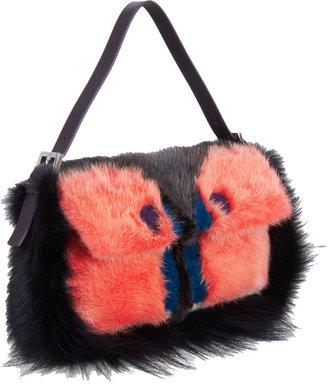 Fendi Fur Monster Baguette Bag