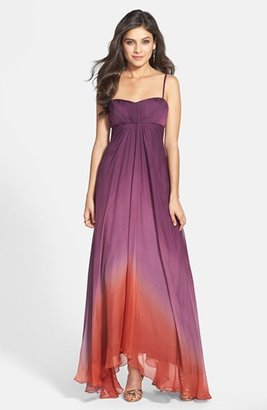 JS Collections Ombré Chiffon Gown