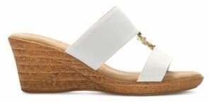 Italian Shoemakers Textured Open-Toe Wedge Sandals