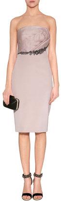 Notte by Marchesa Strapless Silk Organza Dress in Blush