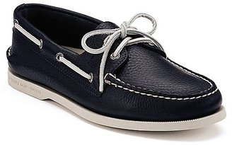 Sperry Men's Authentic Original Two Eye Leather Boat Shoes $95 thestylecure.com