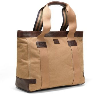 Brooks Brothers Washed Canvas and Leather Tote