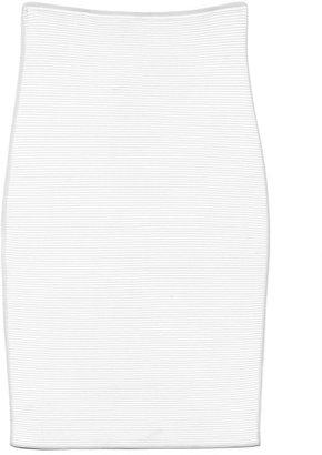 Alexander Wang Preorder Compact Stretch Viscose Optical Stripe Pencil Skirt