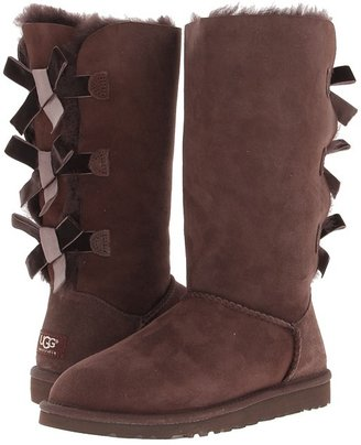 UGG Bailey Bow Tall Boot - Zappos Exclusive (Chocolate) - Footwear