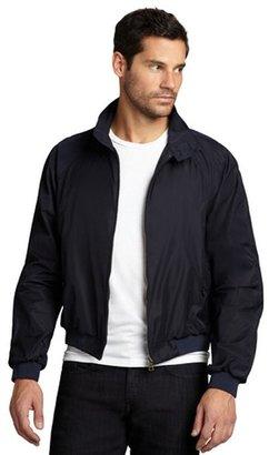 Prada navy nylon woven rain jacket