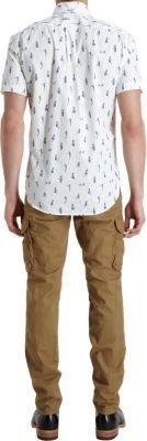 Incotex Slim Fit Cargo Pants-Nude