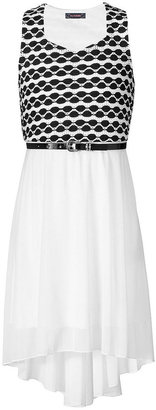 Sequin Hearts Girls Dress, Girls Belted High-Low Dress
