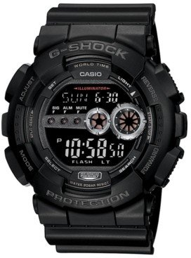 G-Shock Men's Xl Digital Black Resin Strap Watch GD100-1B