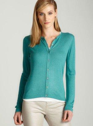 August Silk Turquoise cardigan