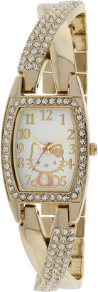 Hello Kitty Womens Gold-Tone Bracelet Watch $55 thestylecure.com