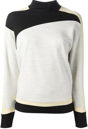 Helmut Lang tri-colour panelled sweatshirt