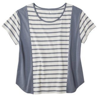 Mossimo Women's Plus-Size Short-Sleeve Scoop Tee - Assorted Stripe