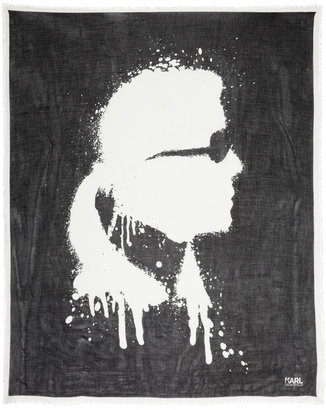 Karl Lagerfeld Printed modal and cashmere-blend scarf