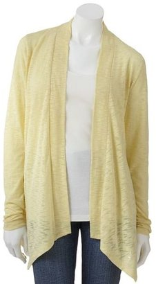 Sonoma life + style® slubbed open-front cardigan