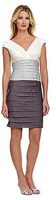 London Times Colorblock Shutter Dress
