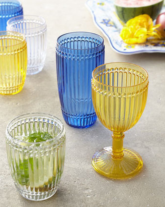 "Neiman Marcus Six ""Milano"" Polycarbonate Wine Glasses"
